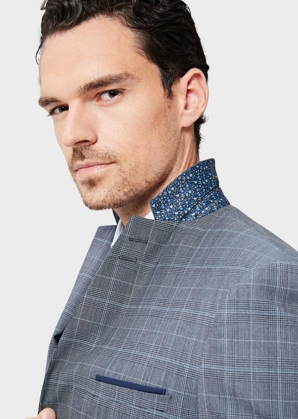 Costume 2 pièces Slim en laine bleu indigo Prince de Galles - Father and Sons 40950