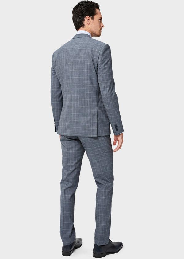 Costume 2 pièces Slim en laine bleu indigo Prince de Galles - Father and Sons 40949