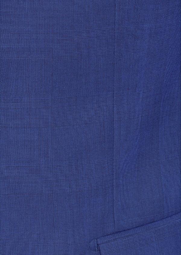 Costume 2 pièces Slim en laine bleue Prince de Galles - Father and Sons 40966