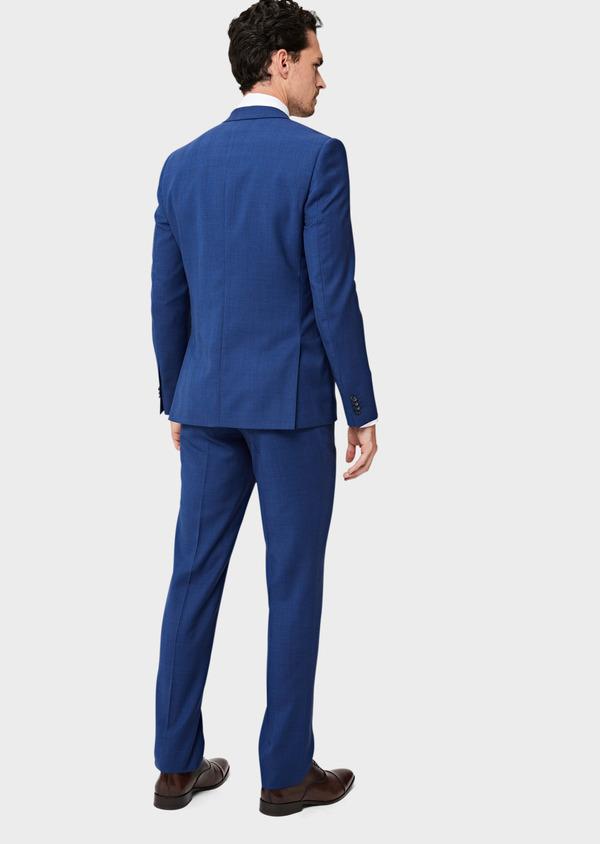 Costume 2 pièces Slim en laine bleue Prince de Galles - Father and Sons 40962