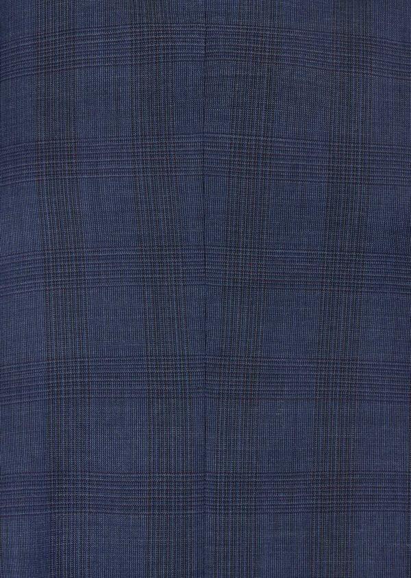 Costume 2 pièces Slim en laine bleue Prince de Galles - Father and Sons 40973