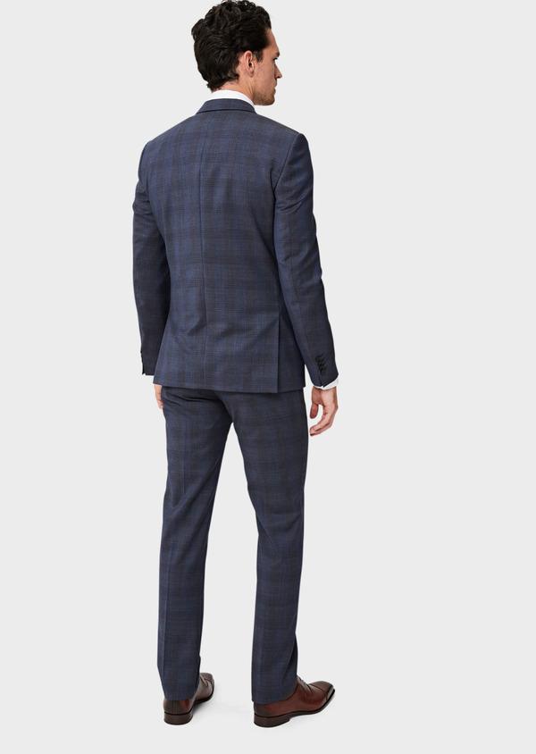 Costume 2 pièces Slim en laine bleue Prince de Galles - Father and Sons 40969