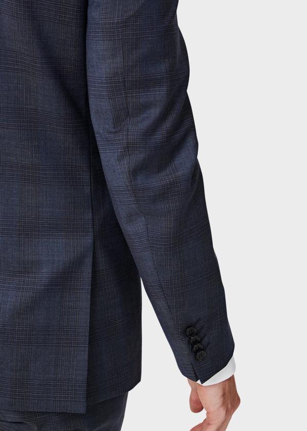 Costume 2 pièces Slim en laine bleue Prince de Galles - Father and Sons 40971