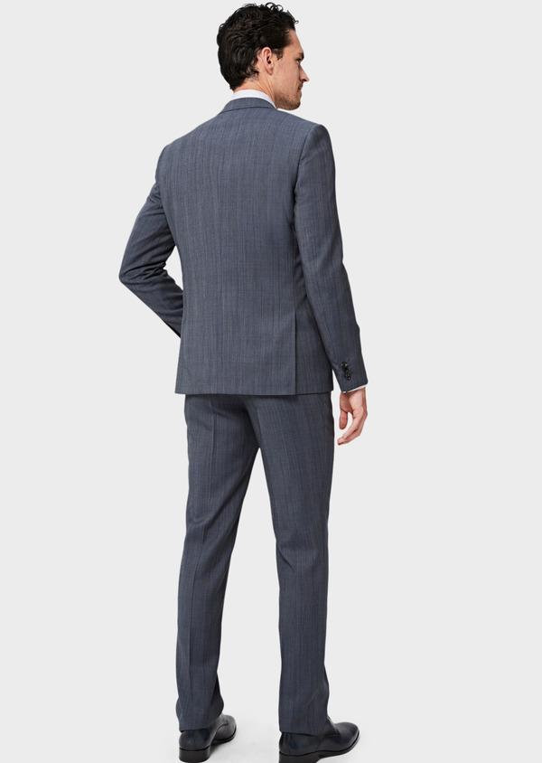 Costume 2 pièces Slim en laine bleu chambray Prince de Galles - Father and Sons 40990