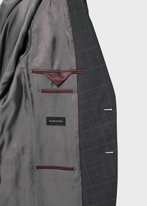 Costume 2 pièces Regular en laine grise Prince de Galles - Father and Sons 40979