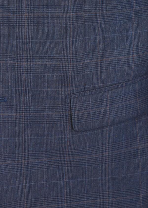 Costume 2 pièces Regular en laine bleu marine Prince de Galles - Father and Sons 41674