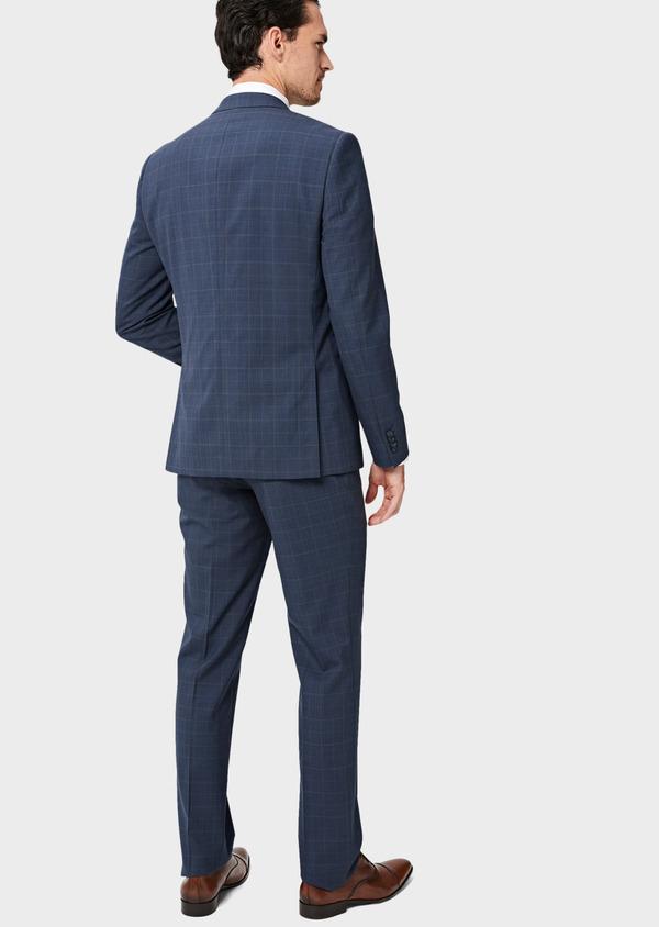 Costume 2 pièces Regular en laine bleu marine Prince de Galles - Father and Sons 41670