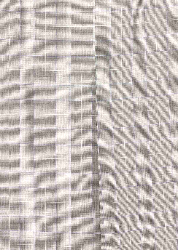 Costume 2 pièces Regular en laine stretch naturelle beige Prince de Galles - Father and Sons 37568