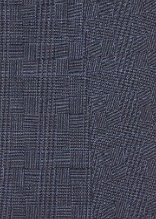 Costume 2 pièces Regular en laine mélangée bleu marine Prince de Galles - Father and Sons 37477
