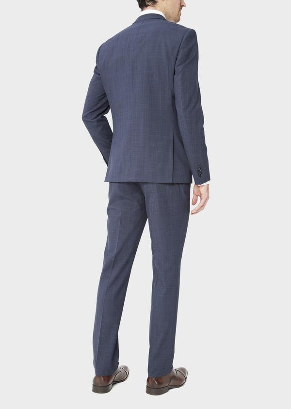Costume 2 pièces Regular en laine mélangée bleu marine Prince de Galles - Father and Sons 37479