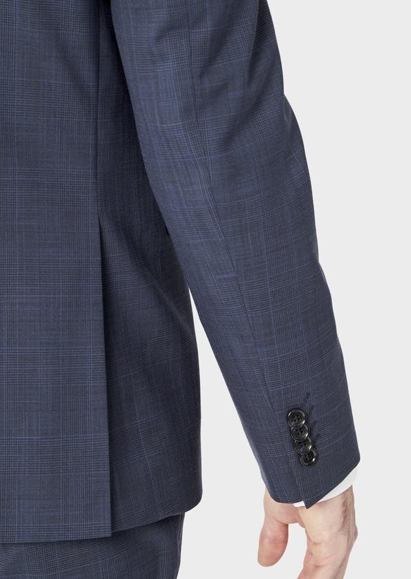 Costume 2 pièces Regular en laine mélangée bleu marine Prince de Galles - Father and Sons 37481