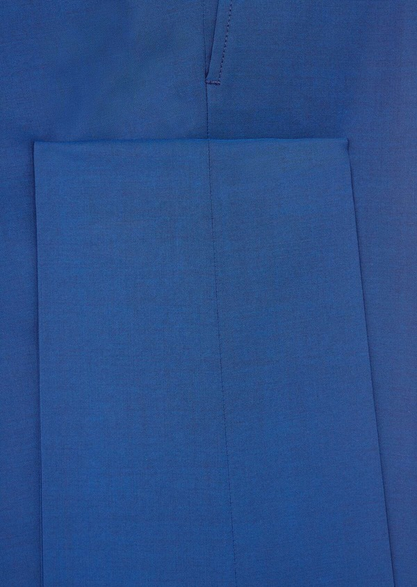 Costume 2 pièces Regular en laine stretch naturelle unie bleue - Father and Sons 40582