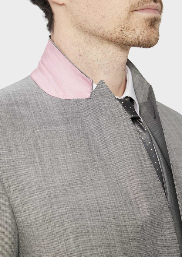 Costume 2 pièces Regular en laine mélangée unie gris clair - Father and Sons 37414