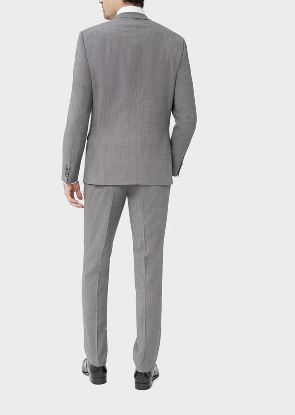 Costume 2 pièces Regular en laine stretch naturelle unie grise - Father and Sons 37542