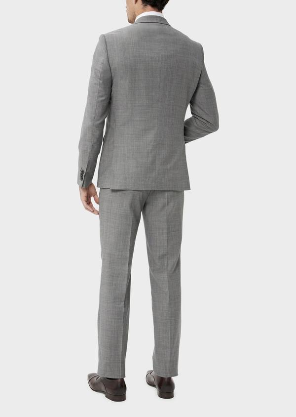Costume 2 pièces Regular en laine stretch naturelle unie grise - Father and Sons 35098