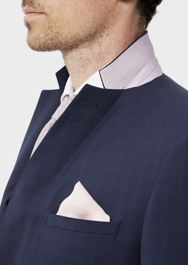 Costume 2 pièces Regular en laine stretch naturelle unie bleu indigo - Father and Sons 35064