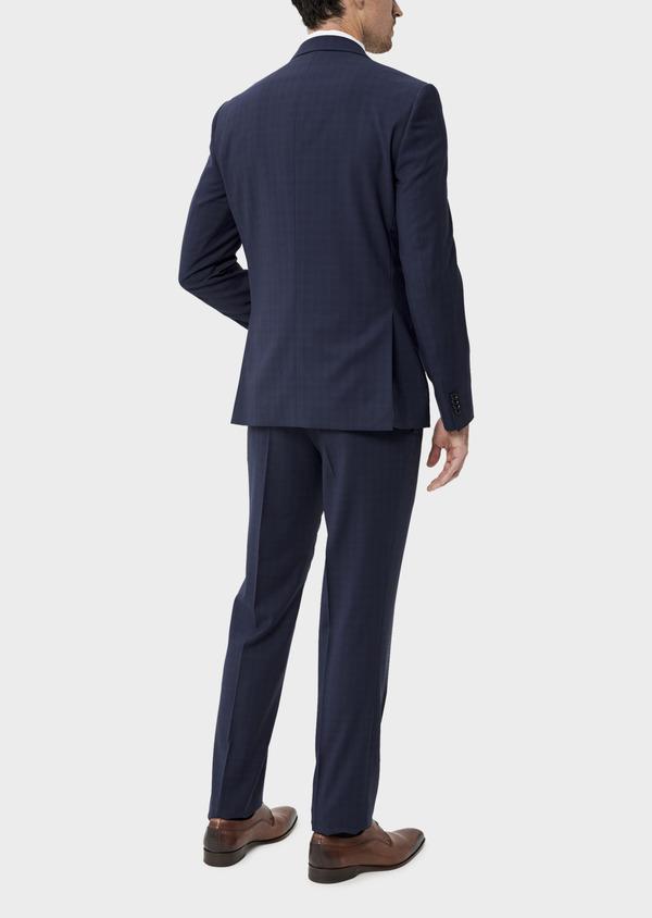 Costume 2 pièces Regular en laine stretch naturelle unie bleu indigo - Father and Sons 35063