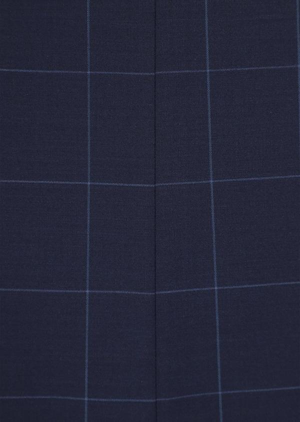 Costume 2 pièces Slim en laine mélangée stretch bleu marine à carreaux - Father and Sons 35956
