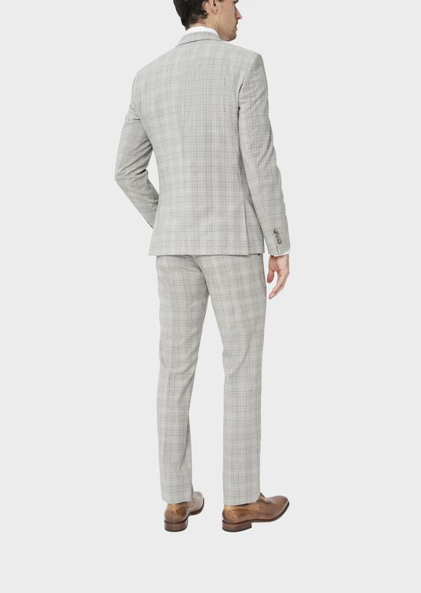 Costume 2 pièces Slim en laine stretch naturelle beige Prince de Galles - Father and Sons 37427