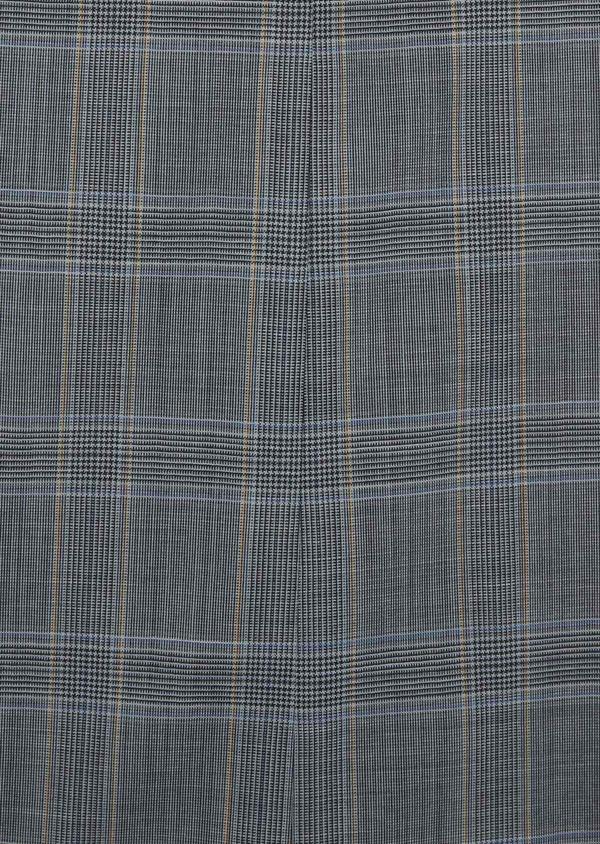 Costume 2 pièces Slim en laine stretch naturelle bleu indigo Prince de Galles - Father and Sons 37449