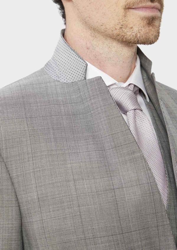 Costume 2 pièces Slim en laine grise Prince de Galles - Father and Sons 37407