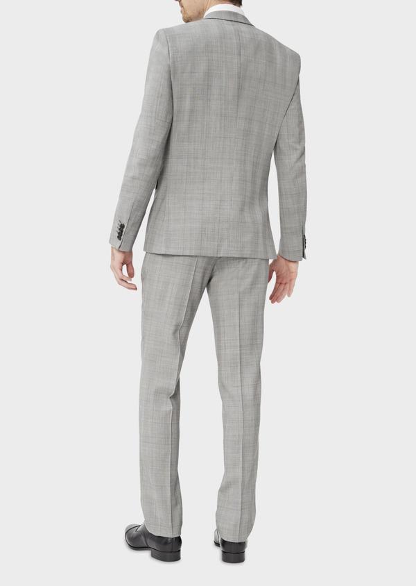 Costume 2 pièces Slim en laine grise Prince de Galles - Father and Sons 37406