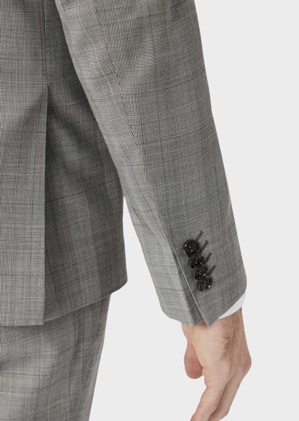 Costume 2 pièces Slim en laine grise Prince de Galles - Father and Sons 37408