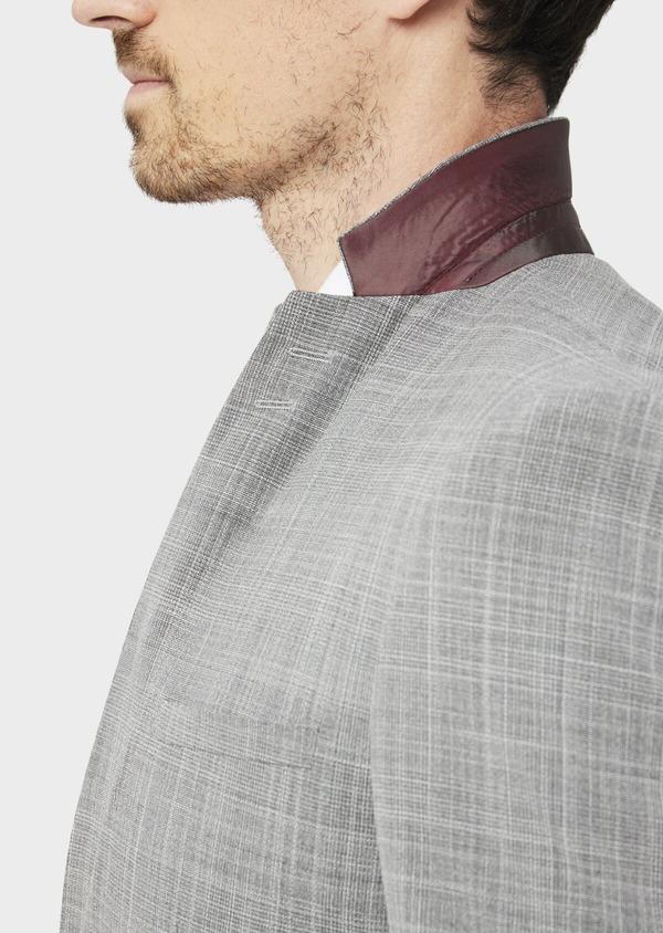 Costume 2 pièces Slim en laine mélangée gris clair Prince de Galles - Father and Sons 37557