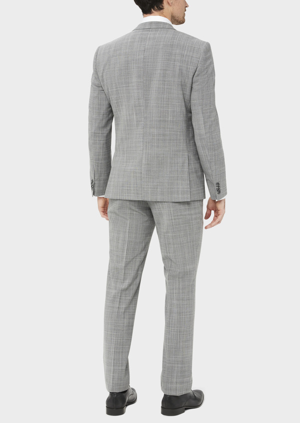 Costume 2 pièces Slim en laine mélangée gris clair Prince de Galles - Father and Sons 37556