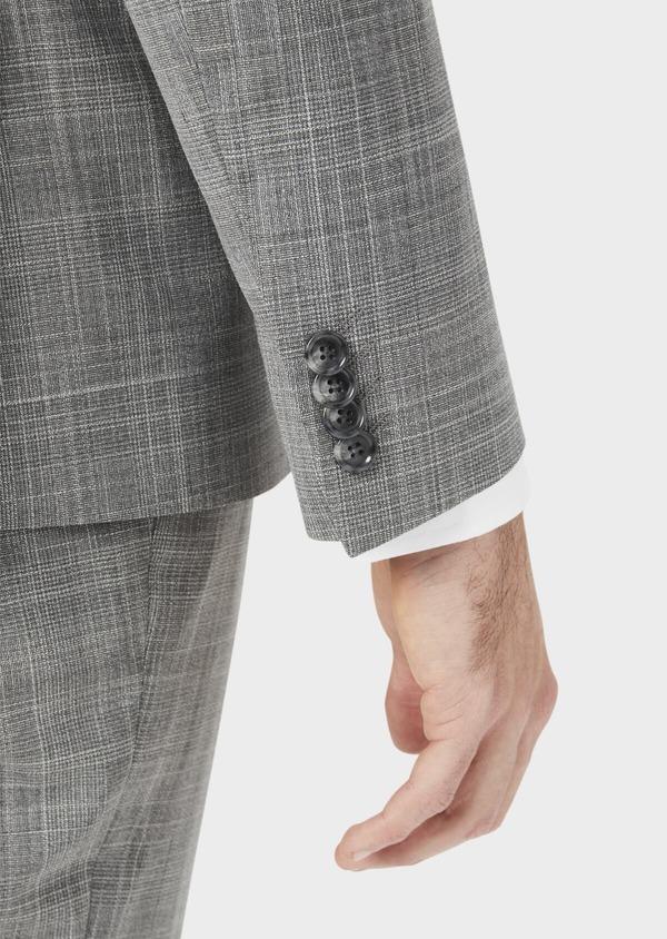 Costume 2 pièces Slim en laine mélangée gris clair Prince de Galles - Father and Sons 37558