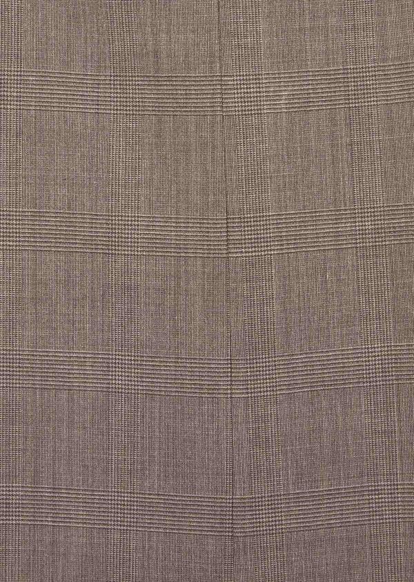 Costume 2 pièces Slim en laine mélangée marron Prince de Galles - Father and Sons 37582