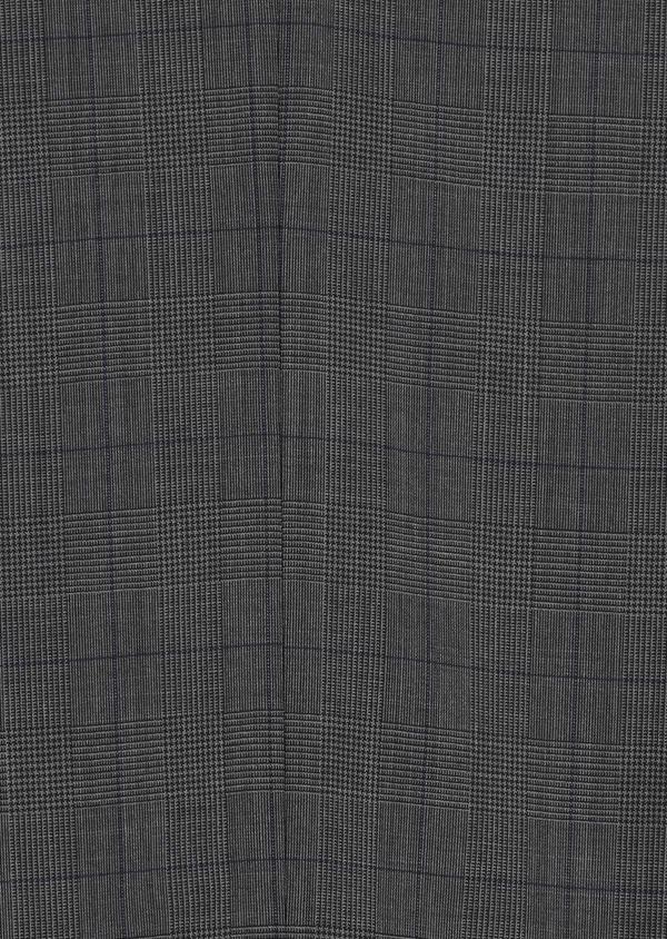 Costume 2 pièces Slim en laine stretch naturelle marron Prince de Galles - Father and Sons 35024