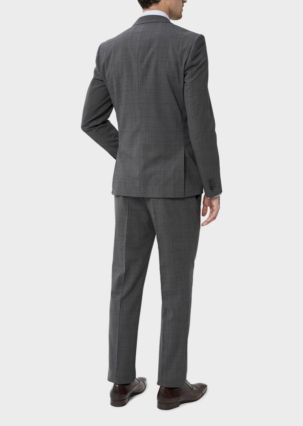 Costume 2 pièces Slim en laine stretch naturelle marron Prince de Galles - Father and Sons 35026