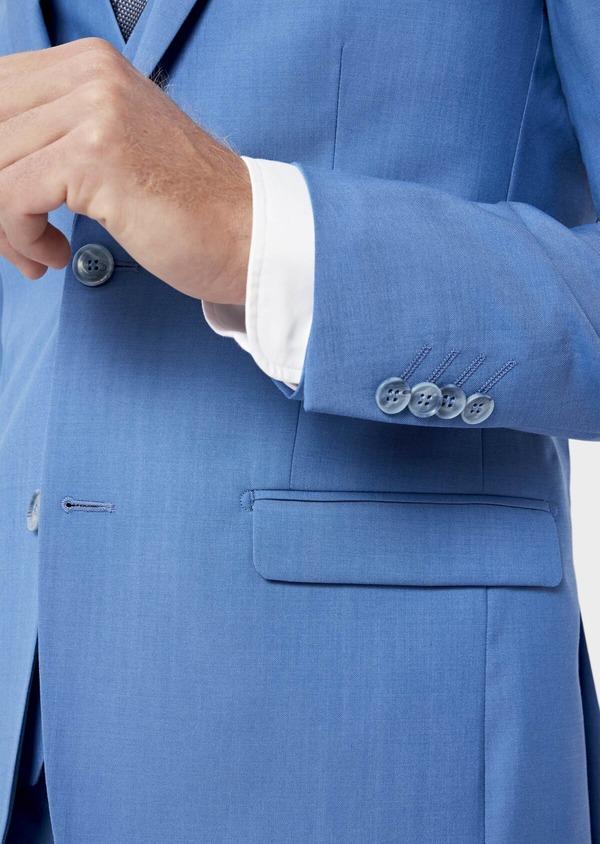 Costume 2 pièces Slim en laine unie bleu azur - Father and Sons 36311