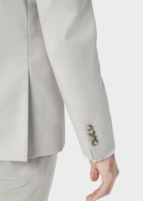 Costume 2 pièces Slim en laine stretch naturelle unie beige - Father and Sons 37422