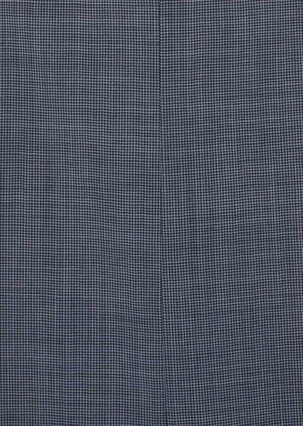 Costume 2 pièces Slim en laine stretch naturelle bleu indigo pied-de-poule - Father and Sons 37456
