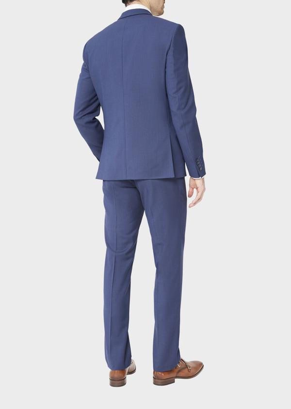 Costume 2 pièces Slim en laine stretch Naturelle unie bleu indigo - Father and Sons 37465