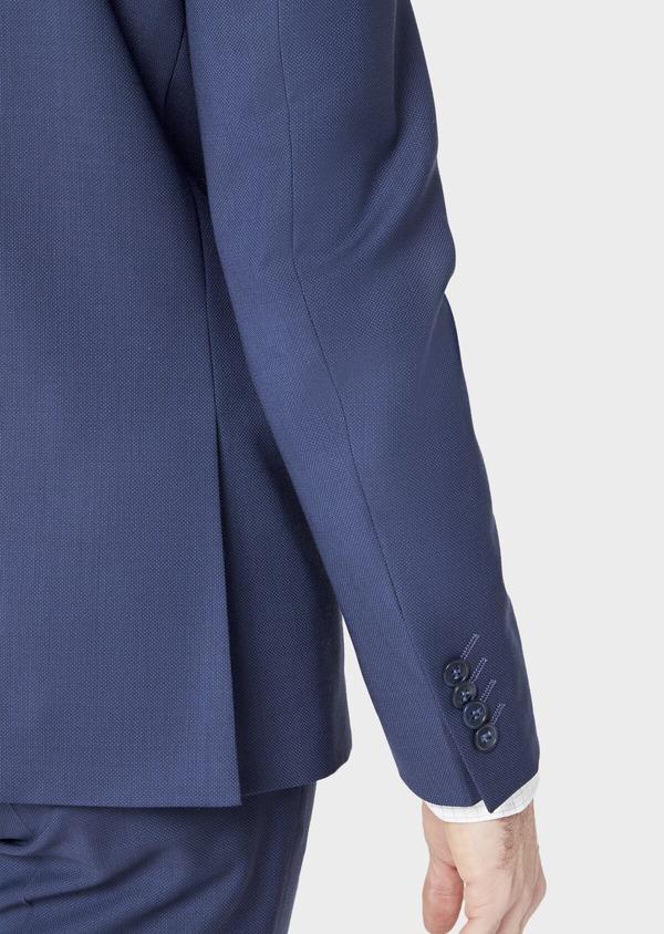Costume 2 pièces Slim en laine stretch Naturelle unie bleu indigo - Father and Sons 37467