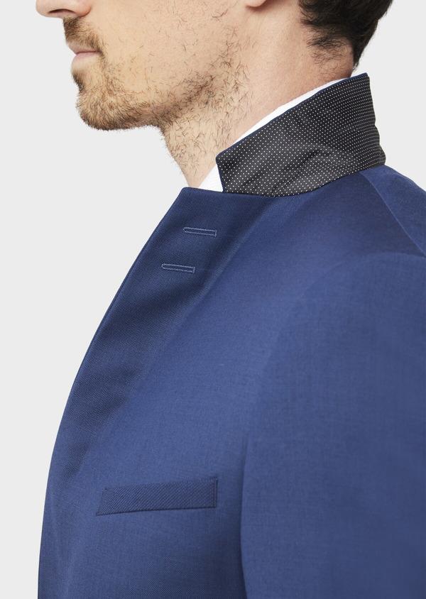 Costume 2 pièces Slim en laine stretch naturelle unie bleu indigo - Father and Sons 37473