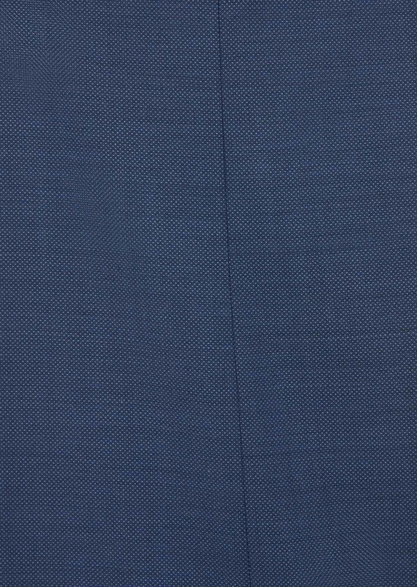 Costume 2 pièces Slim en laine stretch naturelle unie bleu chambray - Father and Sons 37512