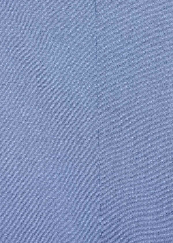 Costume 2 pièces Slim en laine stretch naturelle unie bleu chambray - Father and Sons 37519