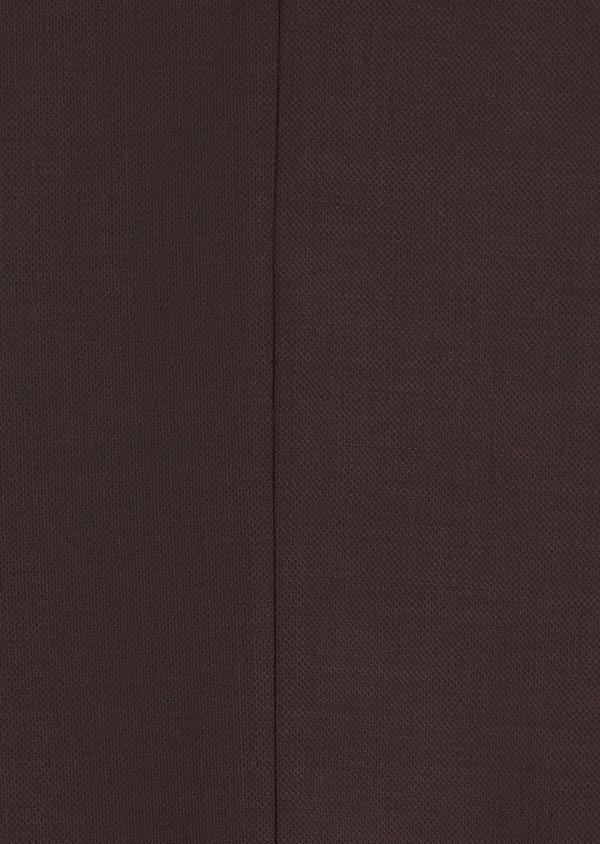 Costume 2 pièces Slim en laine stretch naturelle unie bordeaux - Father and Sons 35031