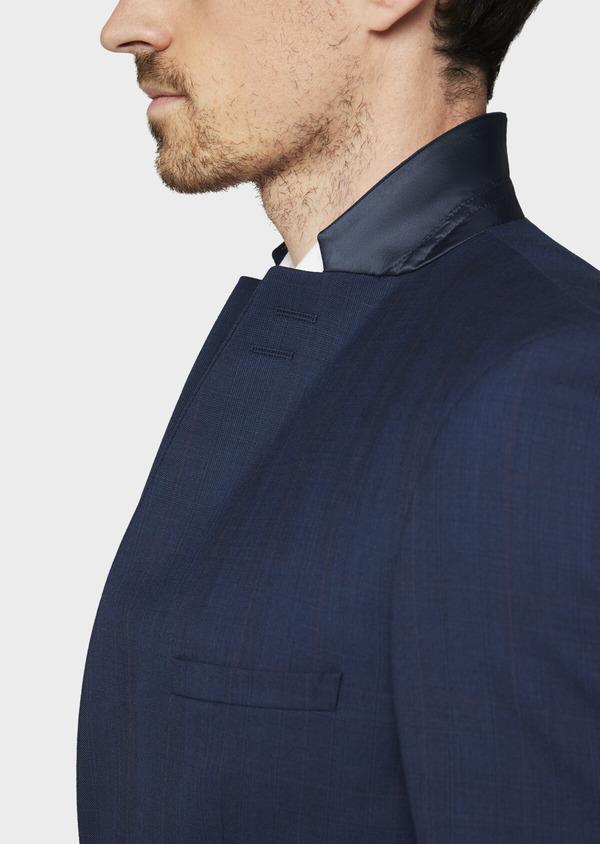 Costume 2 pièces Slim en laine unie bleu indigo - Father and Sons 37083