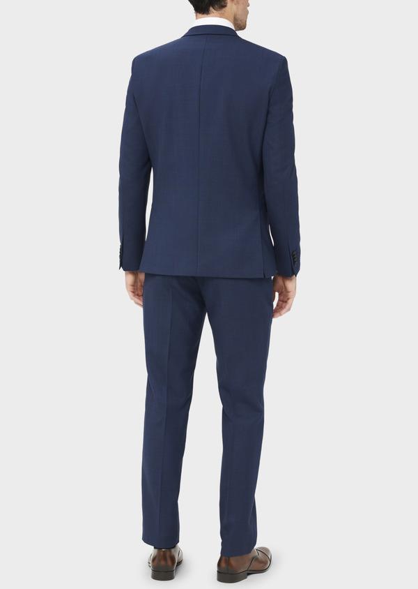 Costume 2 pièces Slim en laine unie bleu indigo - Father and Sons 37082