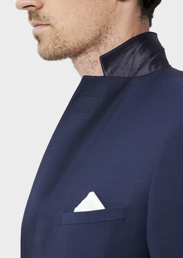 Costume 2 pièces Slim en laine unie bleu indigo - Father and Sons 35071