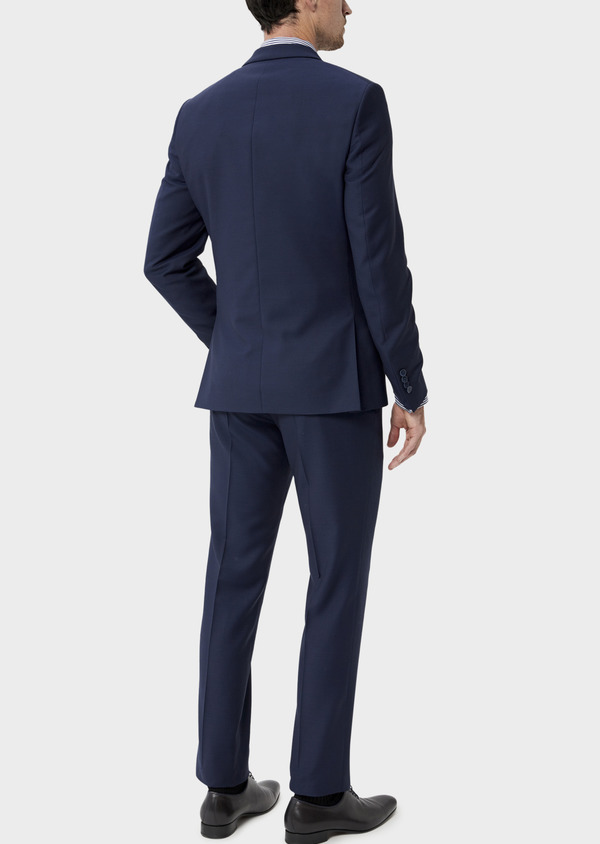 Costume 2 pièces Slim en laine unie bleu indigo - Father and Sons 35070