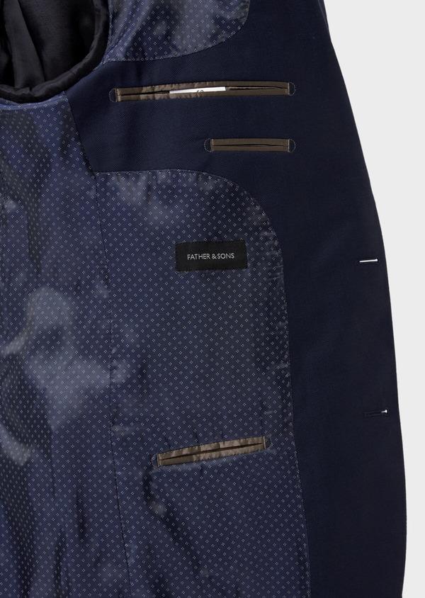 Costume 2 pièces Slim en laine unie bleu indigo - Father and Sons 35073