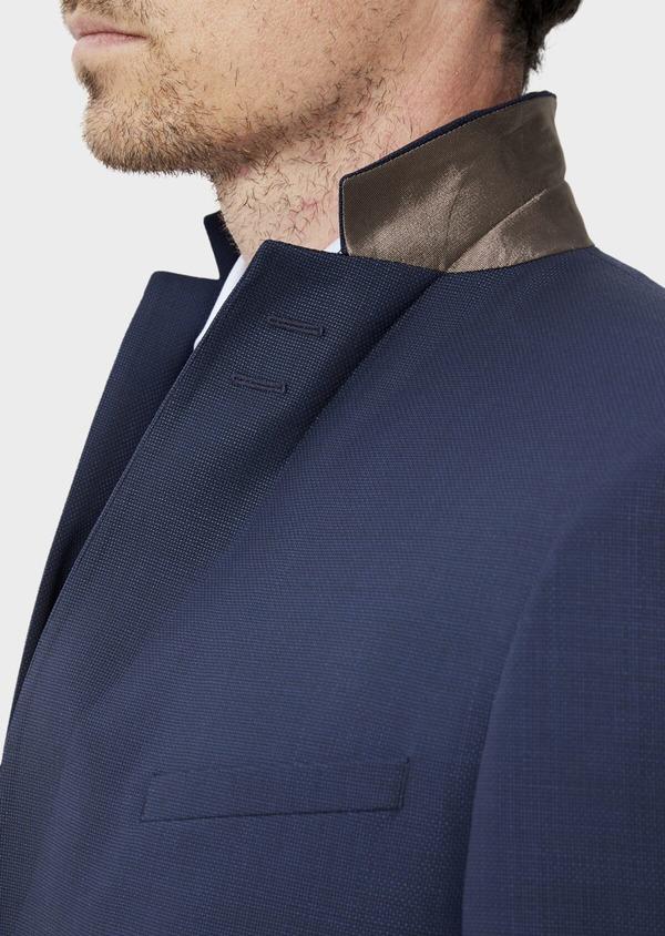 Costume 2 pièces Slim en laine unie bleu indigo - Father and Sons 35078
