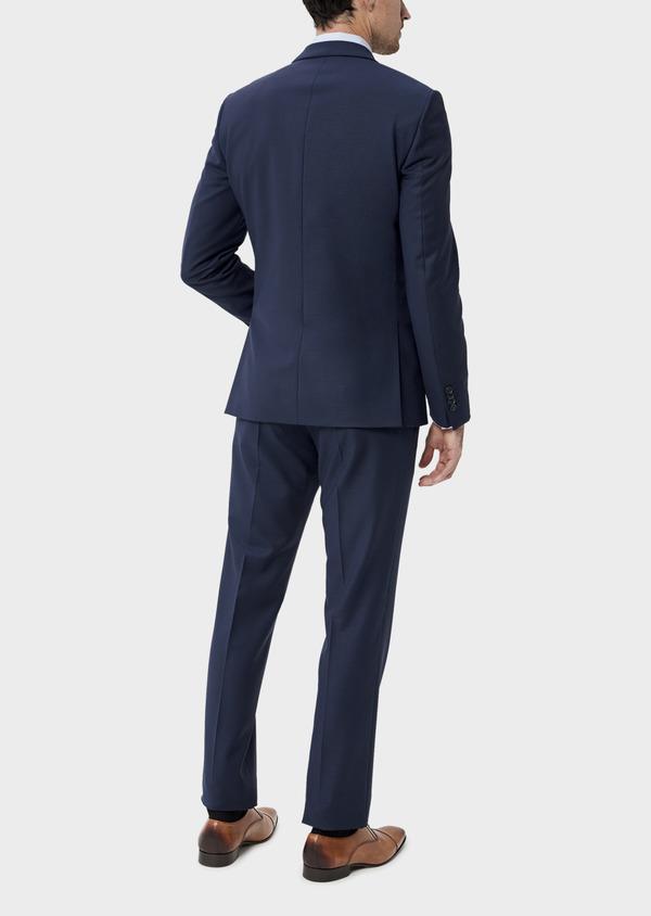 Costume 2 pièces Slim en laine unie bleu indigo - Father and Sons 35077