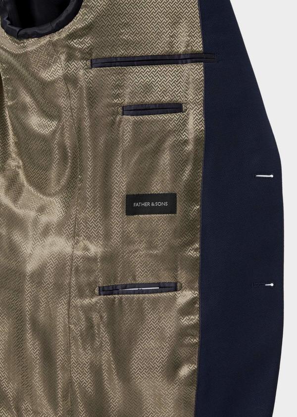 Costume 2 pièces Slim en laine unie bleu indigo - Father and Sons 35080